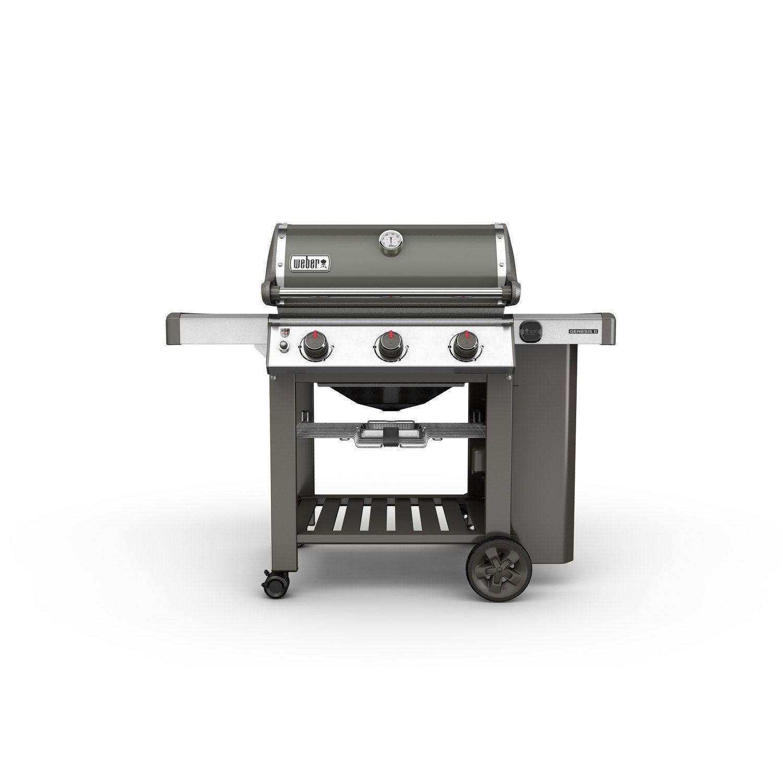 Barbecue A Gaz Ou Electrique barbecue au gaz weber genesis 2 e310, gris
