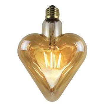 Ampoule Filament LED Coeur E27 4W U003d 380Lm (équiv 35W) 2700K
