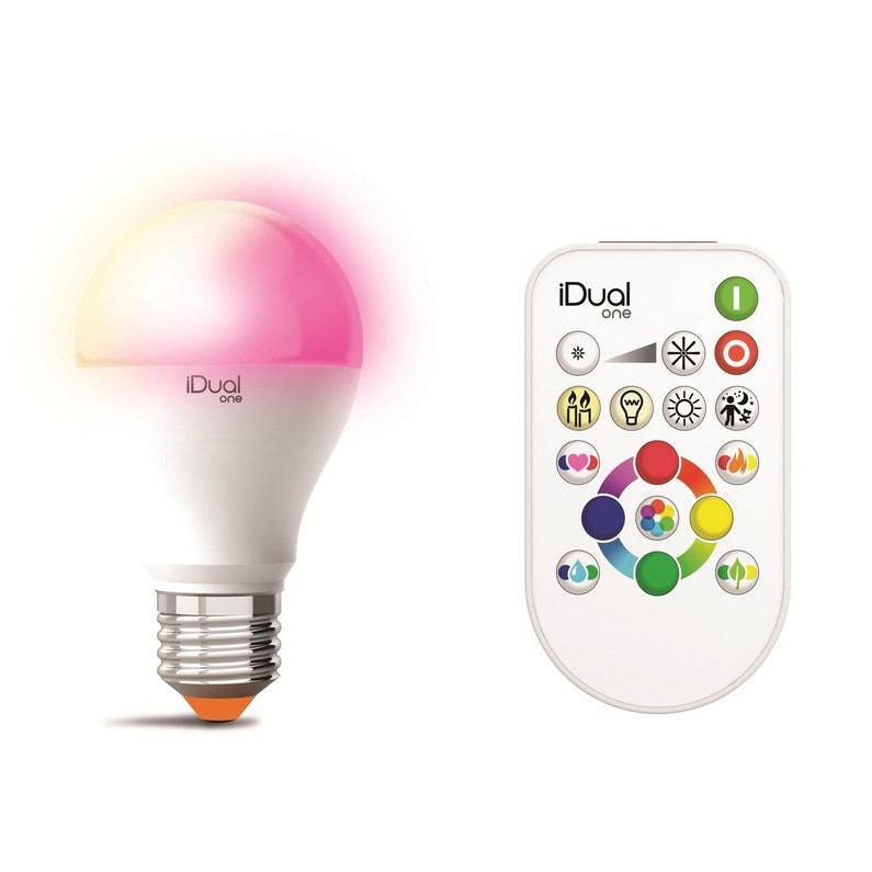 Ampoule Led Standard E27 Changement De Couleurs Telecommande