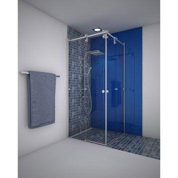 Porte de douche leroy merlin - Porte douche coulissante 90 ...
