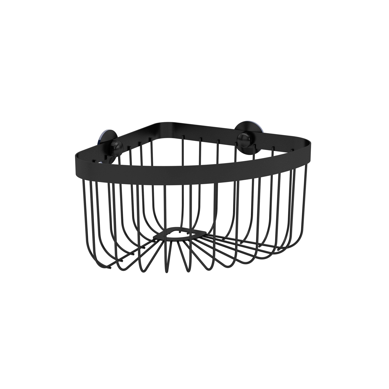 Panier de bain / douche d'angle à visser, black 0, Neo