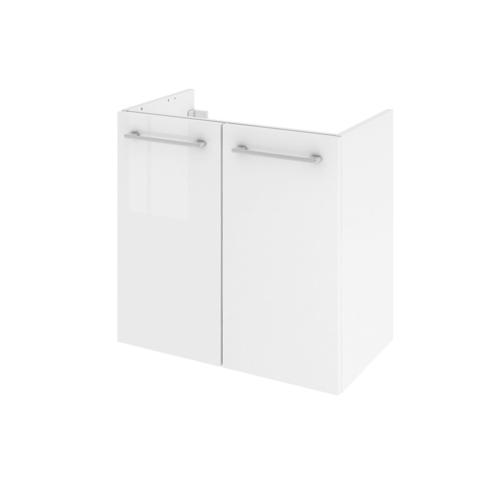 Meuble de salle de bains l.60 x H.58 x P.35 cm, blanc, Remix