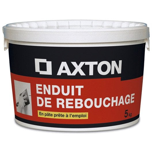 Enduit de rebouchage axton 5 kg leroy merlin for Enduit colle exterieur