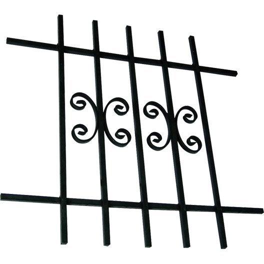 grille de d fense pour fen tre s rie galerne haut 105 x larg 110 cm leroy merlin. Black Bedroom Furniture Sets. Home Design Ideas