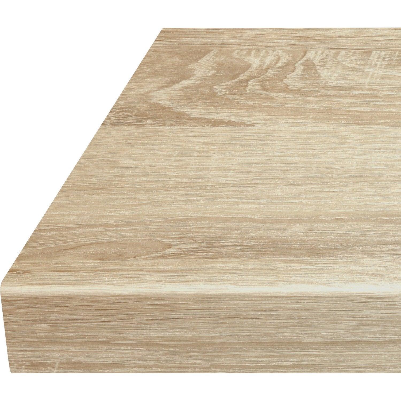 Plan de travail stratifié Effet chêne scié naturel Mat L.315 x P.65 cm, Ep.38  mm fb8a03da7bd
