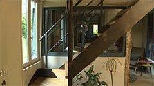 Longère normande et escalier d'usine