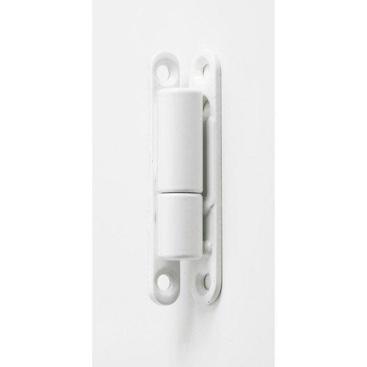 Paumelle acier pour meuble HETTICH, L.83.5 x Diam.15 mm