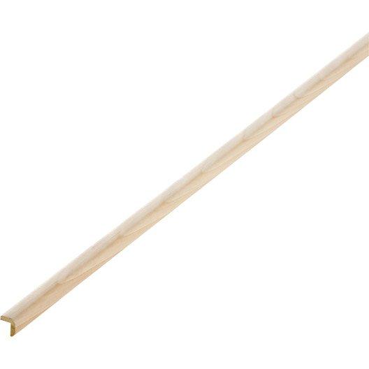 Baguette d 39 angle sapin sans noeud 13 x 13 mm l 2 5 m - Baguette d angle bois ...