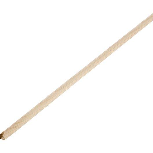 Quart-de-rond sapin sans noeud, 9 x 9 mm, L.2.5 m