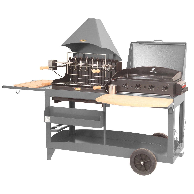 barbecue et plancha au charbon de bois et au gaz lemarquier mendy