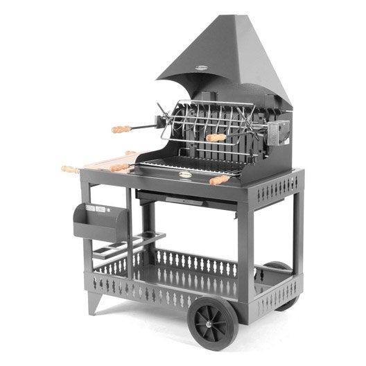 barbecue au charbon de bois lemarquier mendy gris anthracite leroy merlin. Black Bedroom Furniture Sets. Home Design Ideas