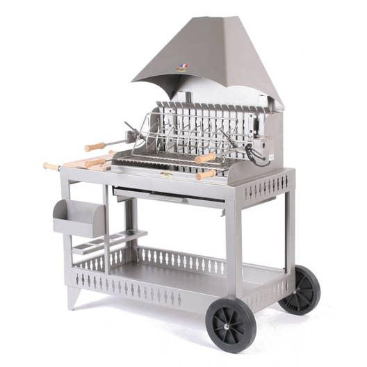 barbecue au charbon de bois lemarquier isturitz inox leroy merlin. Black Bedroom Furniture Sets. Home Design Ideas