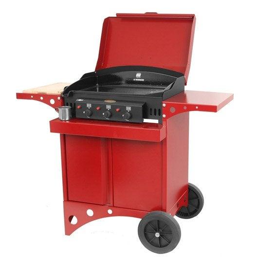 Plancha au gaz sur chariot le marquier kitchen couleur rouge leroy merlin - Chariot plancha leroy merlin ...