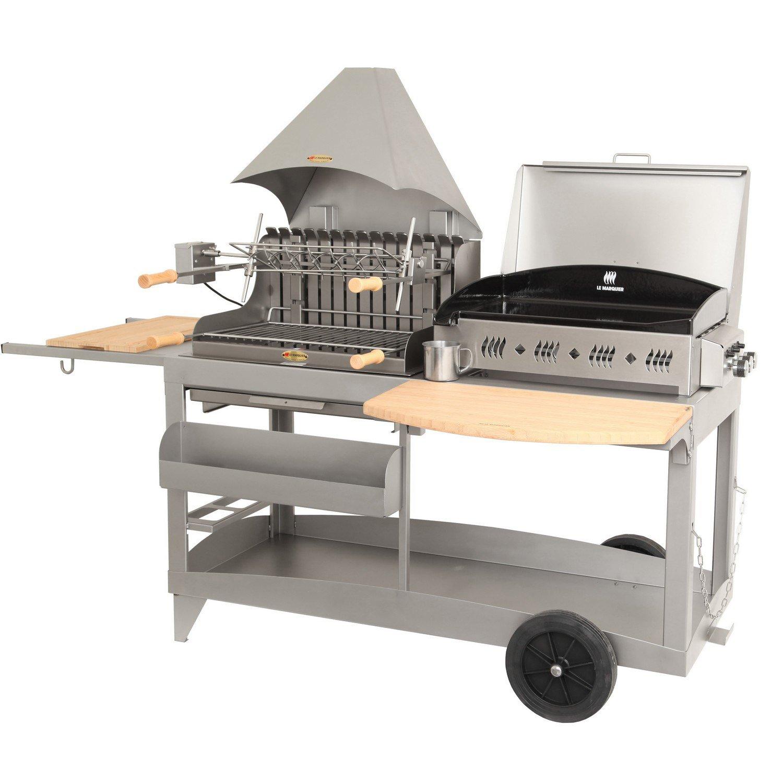 barbecue et plancha au charbon de bois et au gaz lemarquier mendy alde 3 br leur leroy merlin. Black Bedroom Furniture Sets. Home Design Ideas