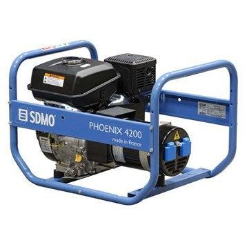 Groupe électrogène essence de chantier SDMO Phoenix 4200, 4200 W
