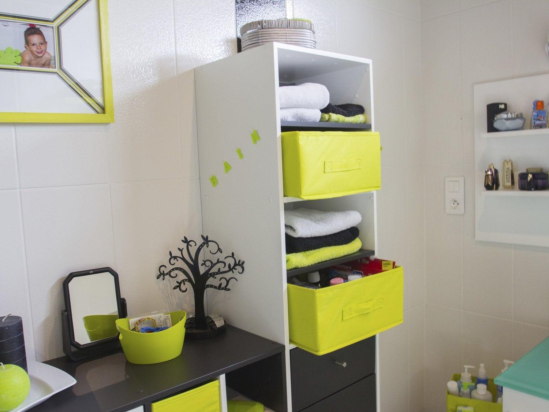 Cr er un bureau avec un plateau de table et des tag res blanches leroy merlin - Creer un bureau ...