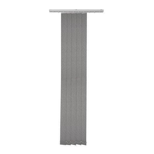 5 lamelles verticales orientables tissage 3d gris x cm leroy merlin. Black Bedroom Furniture Sets. Home Design Ideas