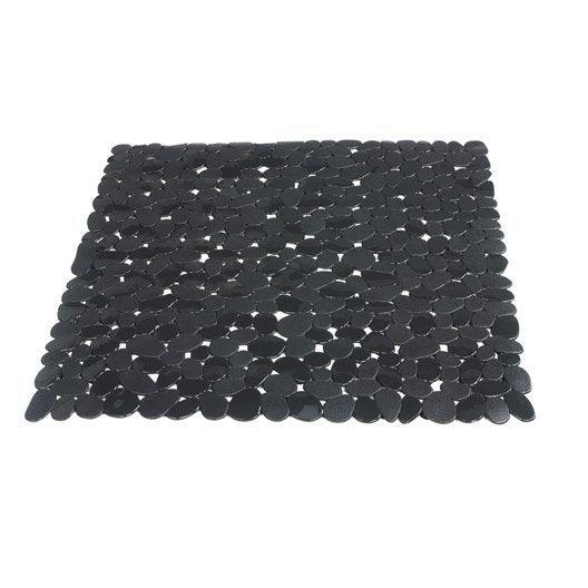 tapis antid rapant gris pour douche stone sensea leroy. Black Bedroom Furniture Sets. Home Design Ideas