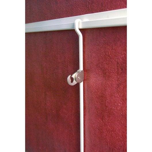 rail rail de suspension pour tableaux le crochet francais x mm leroy merlin. Black Bedroom Furniture Sets. Home Design Ideas