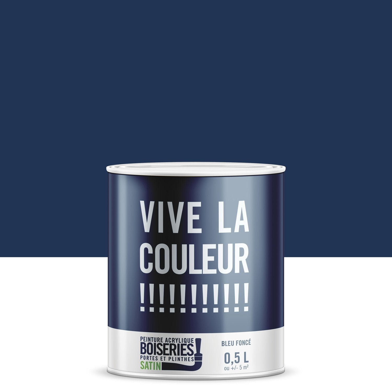 Peinture Bleu Fonc Satin Vive La Couleur 0 5 L Leroy Merlin