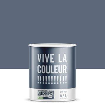 Peinture murale couleur peinture int rieure leroy merlin - Couleur gris ardoise ...
