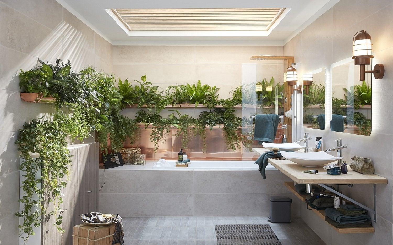 Des plantes dans une salle de bains végétale | Leroy Merlin