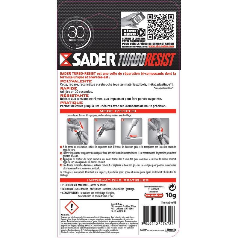 Colle Réparation Turbo Resist Sader 10 G