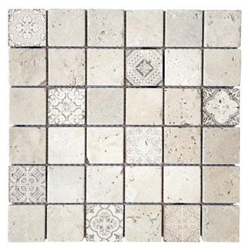 Mosaique Travertin au meilleur prix   Leroy Merlin