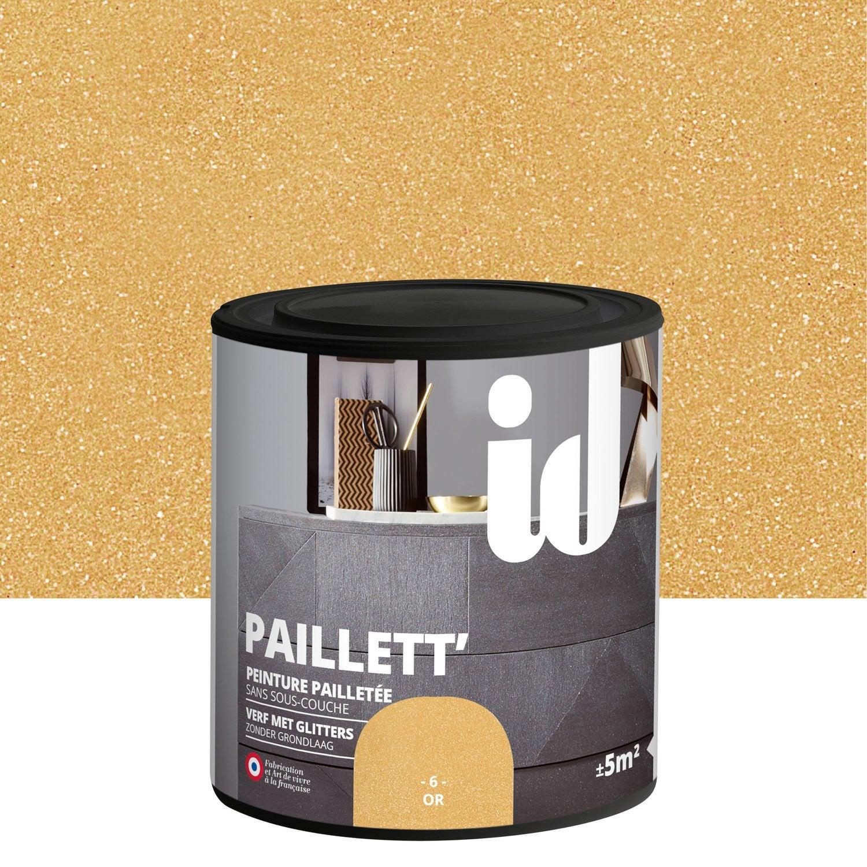peinture pour meuble objet et porte paillet id paillett or 0 5 l leroy merlin. Black Bedroom Furniture Sets. Home Design Ideas