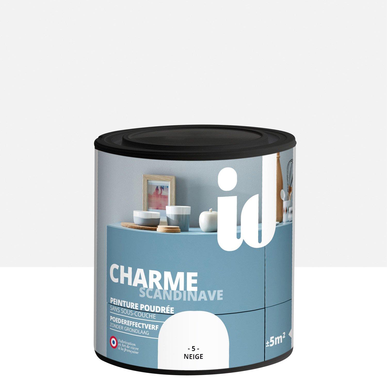 peinture pour meuble objet et porte poudr id charme neige 0 5 l leroy merlin. Black Bedroom Furniture Sets. Home Design Ideas
