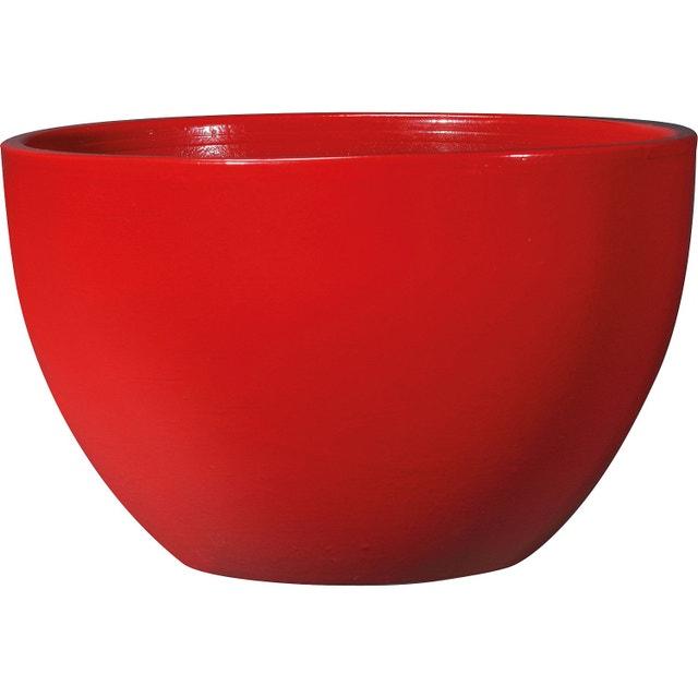 un pot de fleurs arrondi rouge pour un cactus leroy merlin. Black Bedroom Furniture Sets. Home Design Ideas
