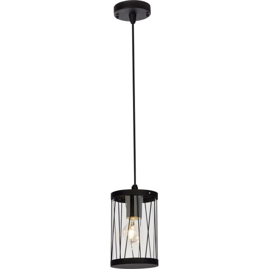 suspension ext rieure reed e27 60 w noir brilliant leroy merlin. Black Bedroom Furniture Sets. Home Design Ideas
