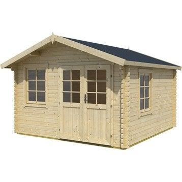 abri de jardin en bois lessebo p 44mm. Black Bedroom Furniture Sets. Home Design Ideas