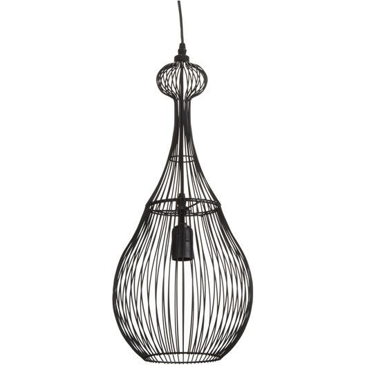 Suspension design zagora m tal noir 1 x 40 w seynave leroy merlin - Suspension new york leroy merlin ...