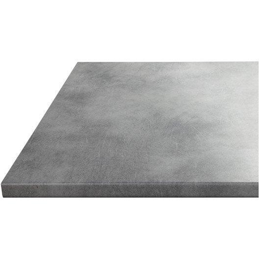 plan de travail droit stratifi b ton 180 x 60 cm p 28 mm leroy merlin. Black Bedroom Furniture Sets. Home Design Ideas