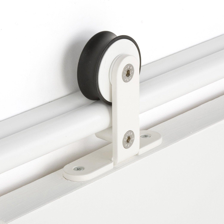 Rail Coulissant Bolero Blanc Pour Porte De Largeur Cm Maximum - Systeme pour porte coulissante