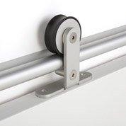 Rail coulissant Bolero 2 aluminium, pour porte de largeur 93 cm maximum