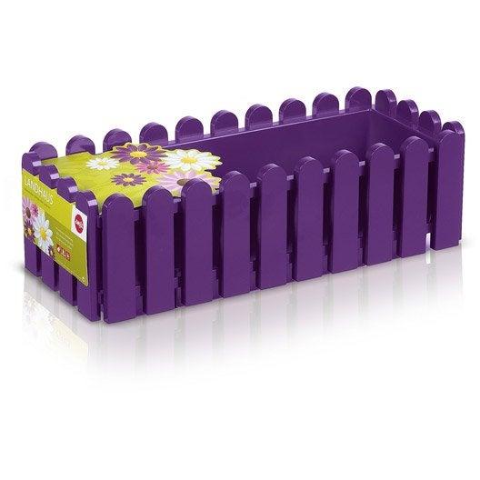 Jardini re plastique emsa x x cm violette - Jardiniere plastique 120 cm ...