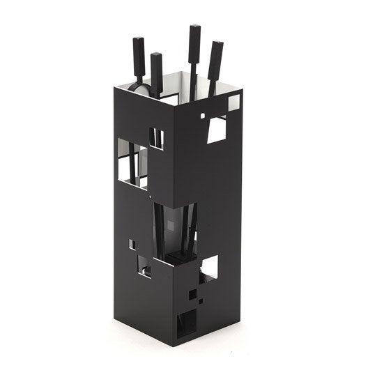 serviteur acier noir et blanc atelier dix neuf city 4 accessoires leroy merlin. Black Bedroom Furniture Sets. Home Design Ideas