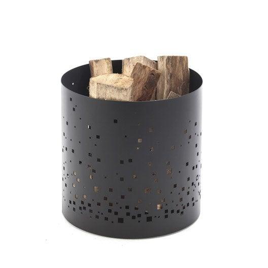 rangement pour bois acier noir atelier dix neuf eph mer cm leroy merlin. Black Bedroom Furniture Sets. Home Design Ideas