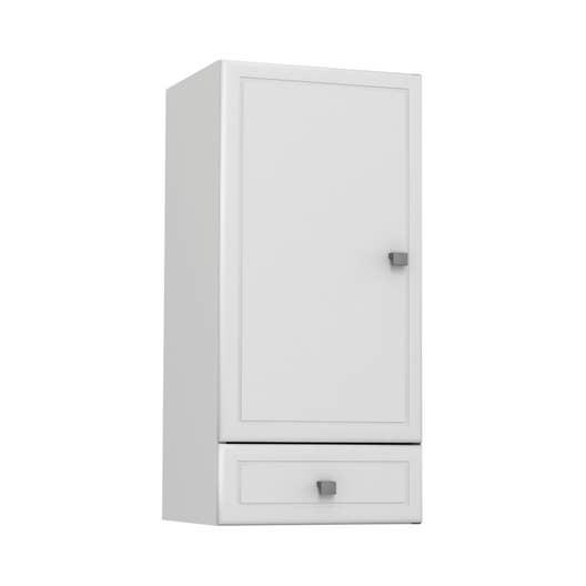 Salle De Bain Galice ~ meuble haut galice blanc l35xh74xp31cm 1 tiroir 2 portes leroy