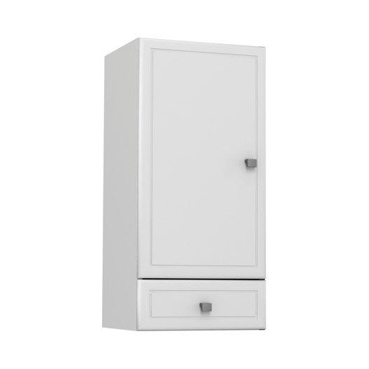 Meuble haut galice blanc l35xh74xp31cm 1 tiroir 2 portes for Meuble tiroir haut