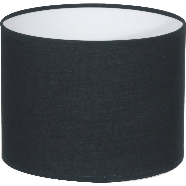 abat jour tube 30 cm coton noir noir n 0 inspire. Black Bedroom Furniture Sets. Home Design Ideas