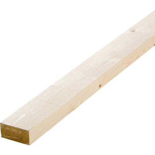Tasseau sapin petits noeuds raboté, 34 x 70 mm, L.2.4 m