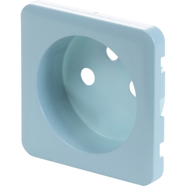 cache prise avec terre cosy, lexman bleu baltique n°3 mat   leroy merlin