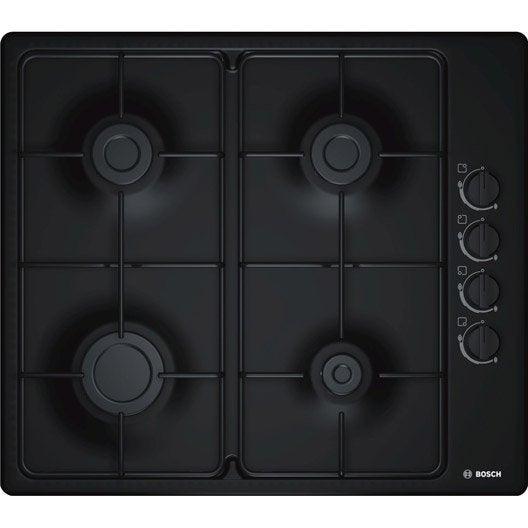 plaque de cuisson gaz 4 foyers noir bosch pbp6b6b80. Black Bedroom Furniture Sets. Home Design Ideas