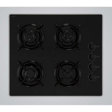 Plaque de cuisson gaz 4 foyers, noir, FRIONOR T4GVNOFRI