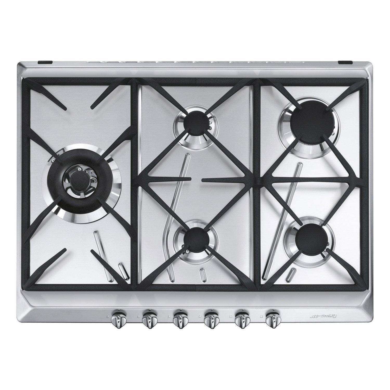 Comparatif Plaque Mixte Induction Gaz plaque de cuisson gaz 5 foyers, inox, smeg srv575gh5