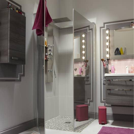 porte de douche angle carr cm x cm miroir luce leroy merlin. Black Bedroom Furniture Sets. Home Design Ideas