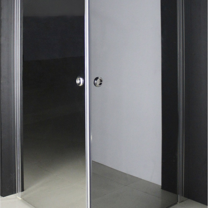 Porte de douche angle carr cm x cm miroir luce leroy merlin for Miroir 50 x 90